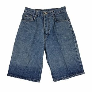 Vintage Jordache High Rise Denim Mom Bermuda Shorts Juniors Size 7 Made In USA